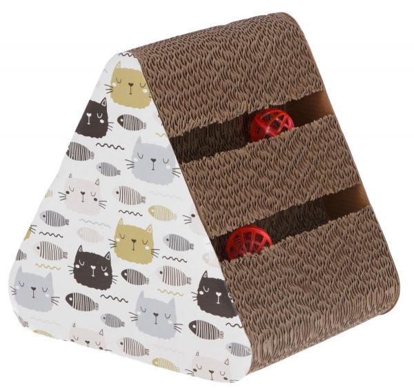 Katzenkratzbrett Boon aus Pappe, 22,4x26x26 cm