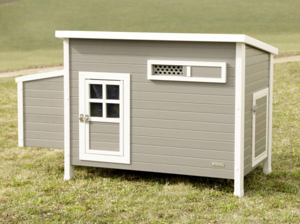 Hühnerstall für Hobby und Garten aus PVC / Kunststoff