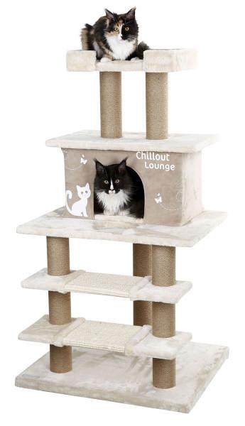 Kratzbaum Chillout Lounge beige/braun 70x63x130cm