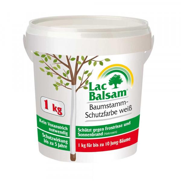 Etisso Lac Balsam Baumstamm-Schutzfarbe weiß 1kg Eimer