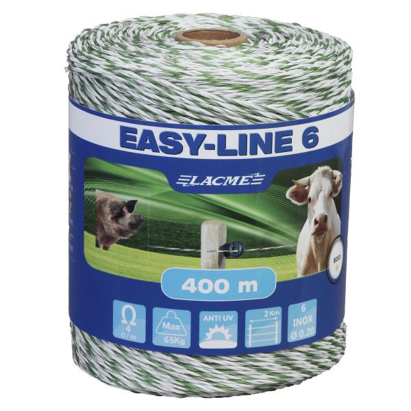 Lacme EASY-LINE 6 Litze Weidezaunlitze 400 m
