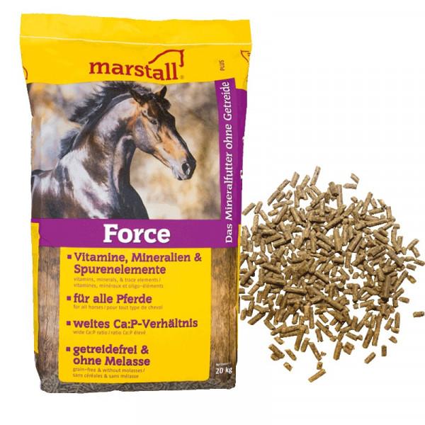 marstall Force Mineralfutter 20 kg-Sack Mineralfuttermittel Pellets für Pferde