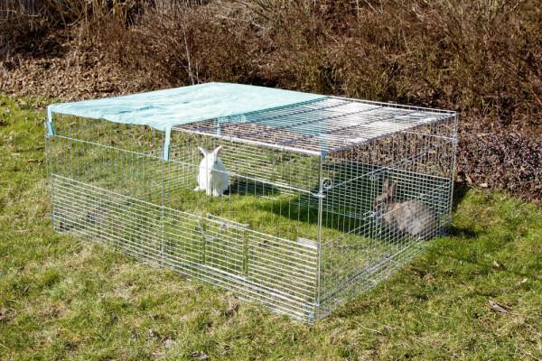 Freilaufgehege mit Ausbruchsperre Hühner Kaninchen