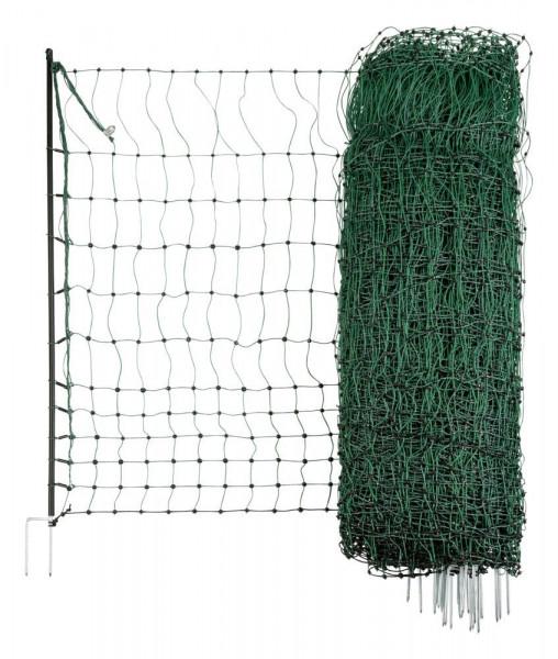 Geflügelnetz grün leitend 15 mtr. 112cm Doppelspitze