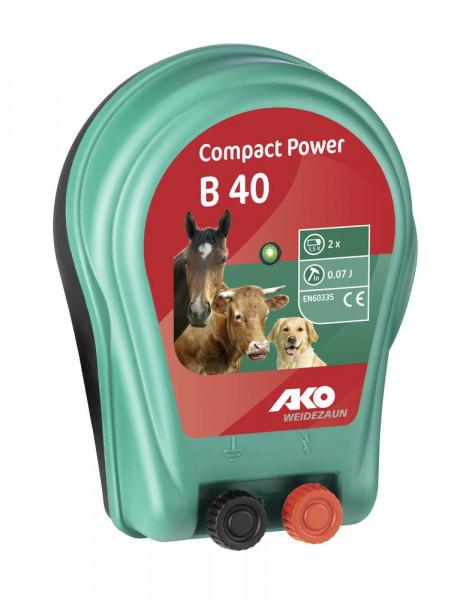 AKO Compact Power B 40 Batteriegerät Mobiles Weidezaungerät