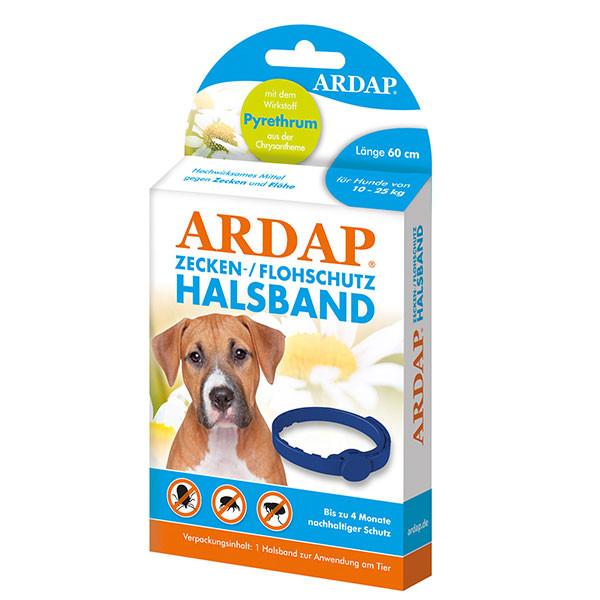 Zecken- und Flohhalsband für mittelgroße Hunde von 10 bis 25 kg